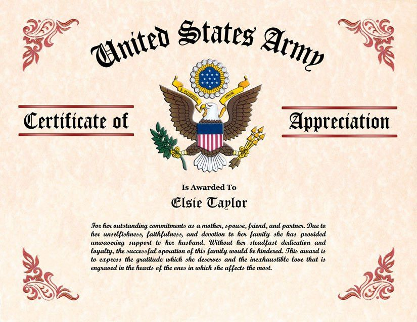 Army certificate of appreciation template sample certificate of sample certificate of appreciation free certificate of yadclub