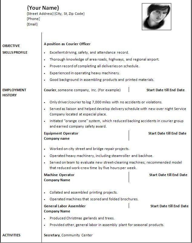 Resume Examples: Modern Word Resume Templates Free Resume Builder ...