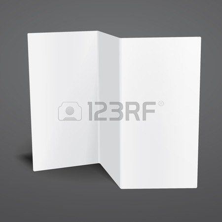 Blank White Vector Tri Fold Brochure Template. Royalty Free ...