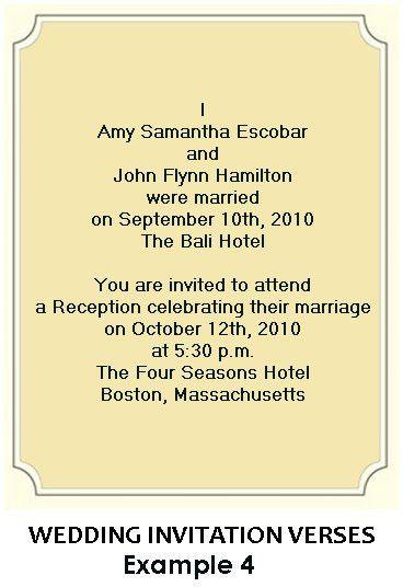 Wedding Reception Invitation Wording – gangcraft.net