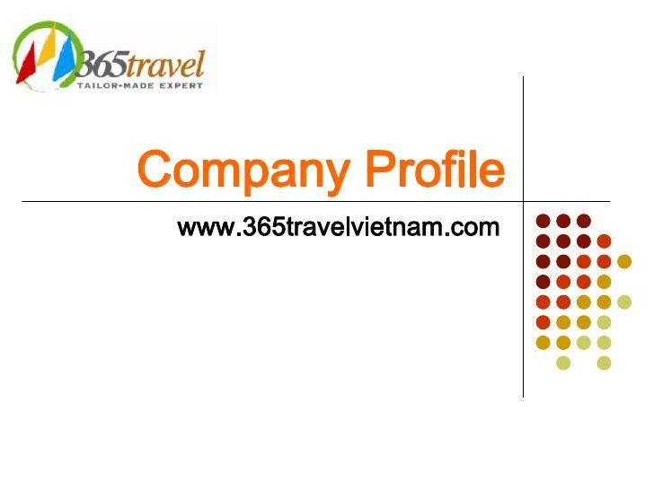 365 travel company profile