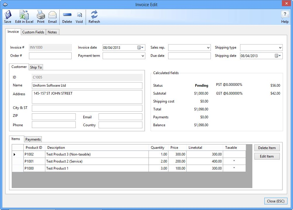 Download Invoice Software Free Software: Express Invoice For Mac ...