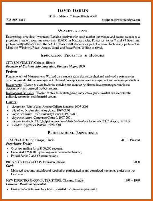 investment banking resume | apa examples