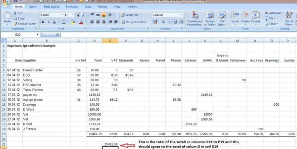 Small Business Accounting Spreadsheet Examples Small Business ...