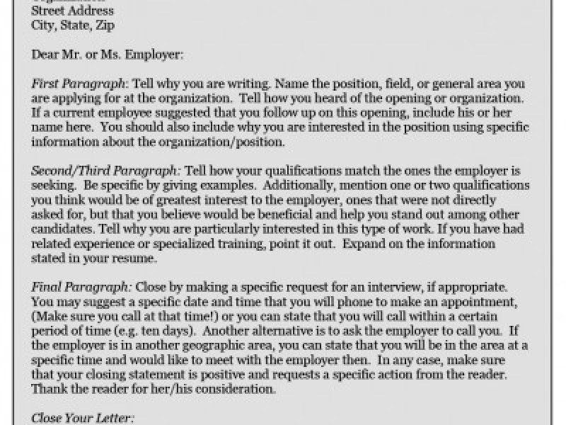 General cover letter closing