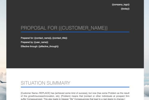 Fill in the Blank Consulting Proposal Template - Mimiran