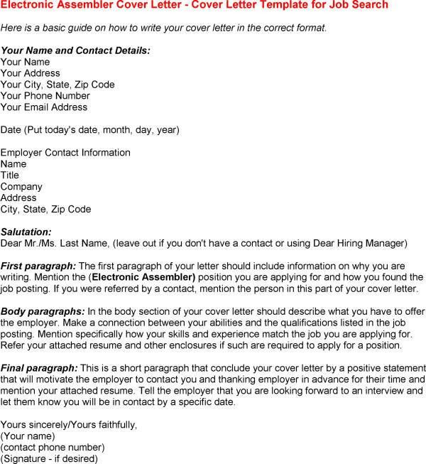 Electronic Cover Letter Format - My Document Blog
