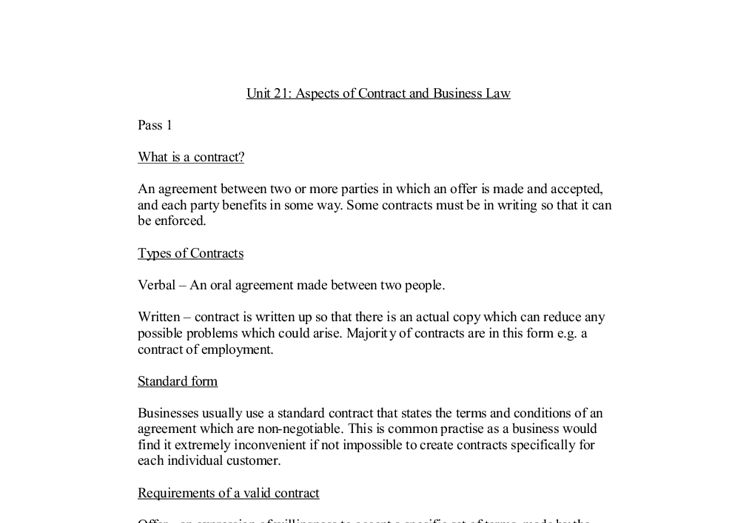 Aspects of Contract and Business Law. Conditions for forming a ...
