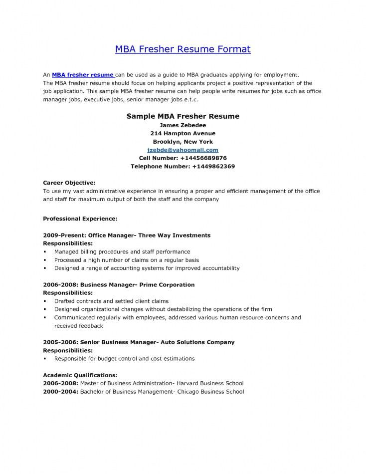 Sample Cv Of Mba Finance Fresher. model resume resume cv cover ...