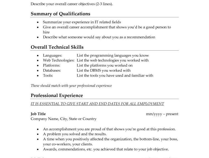 Cool Design Whats A Good Objective For Resume 9 To Put On - CV ...