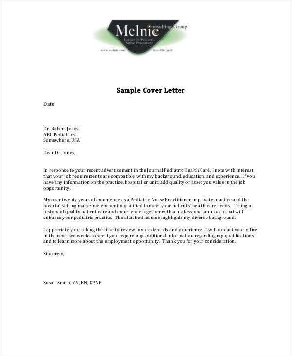 Nursing Cover Letter Example - 10+ Free Word, PDF Documents ...