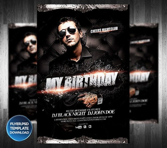 DJ or Birthday Party Flyer Template by Grandelelo on DeviantArt