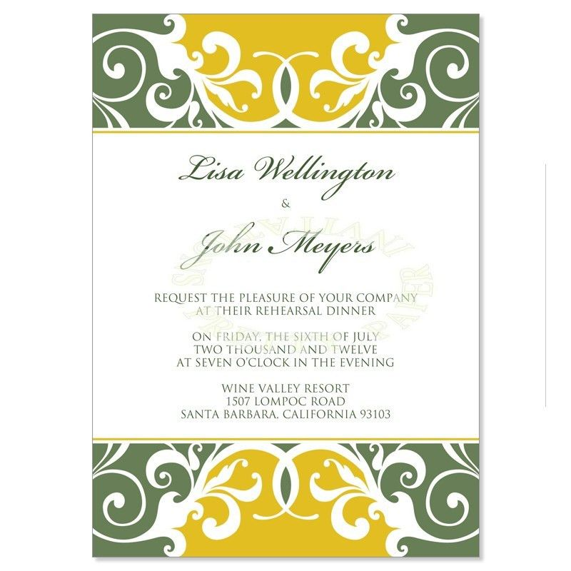 Dinner Card Template Printable Rehearsal Dinner Invitation Card – Dinner Party Invitation Templates