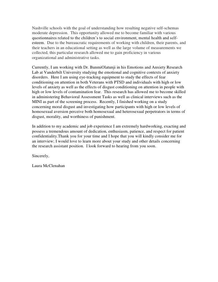 Center for research on health disparities Cover Letter