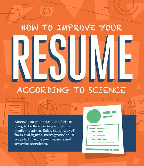 Infographic: How To Improve Your Résumé According To Science ...