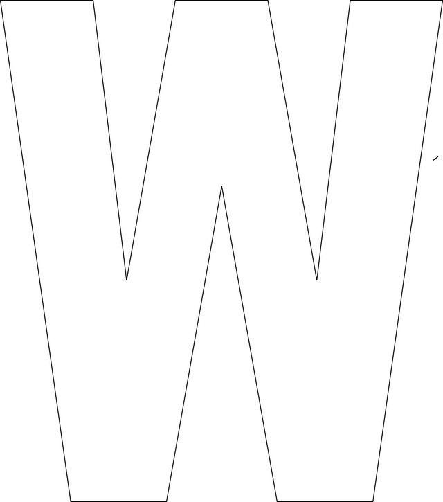 Free Printable Upper Case Alphabet Template   Alphabet templates ...