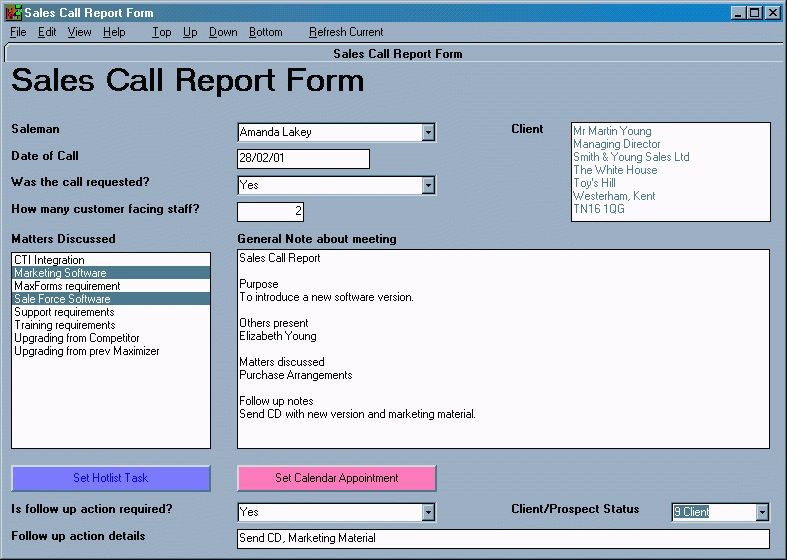 Call Reports - 9.02 Vocabulary