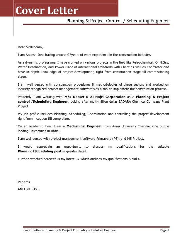 Resume&Cover Letter For Aneesh Jose