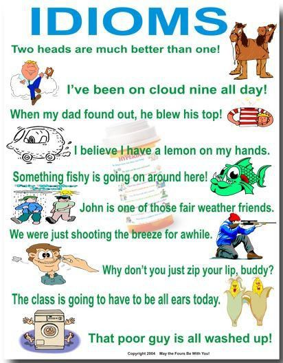 54 best Idioms through pictures images on Pinterest | English ...