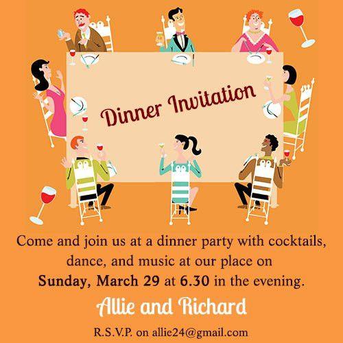 Informal Dinner Party Invitation Wording | cimvitation