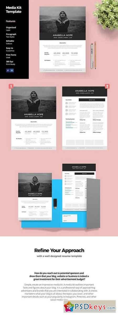 Media Kit Template for Blogger 1396703 » Free Download Photoshop ...