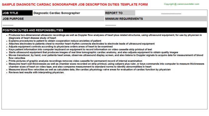 Diagnostic Cardiac Sonographer Resume - Osclues.com