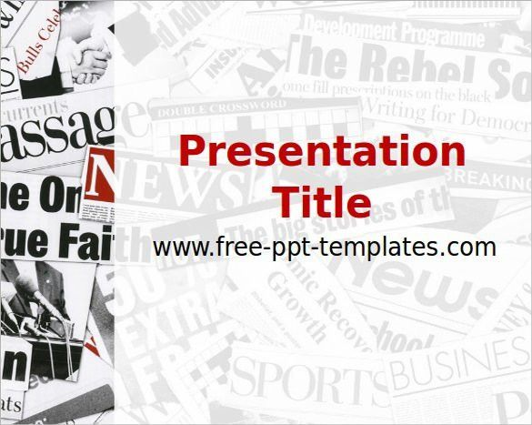 Powerpoint Newspaper Template | Best Template Examples