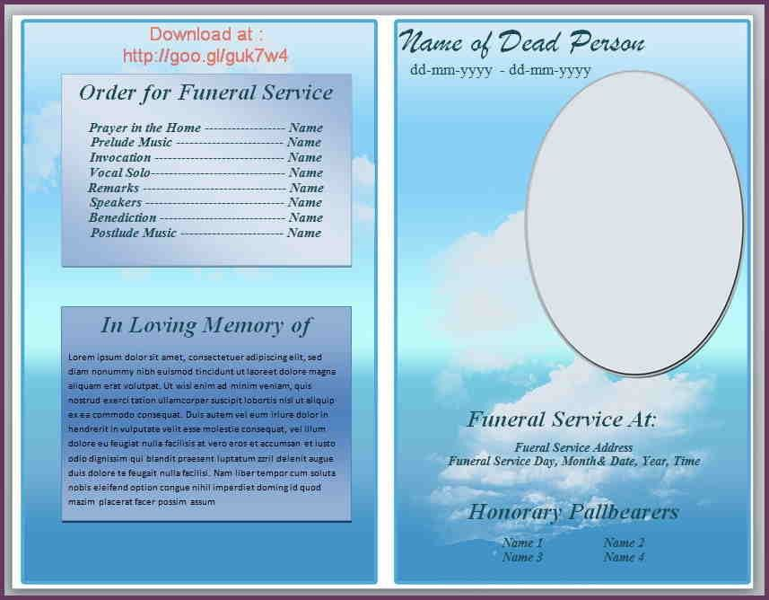 FREE FUNERAL PROGRAM TEMPLATE MICROSOFT WORD | cvsampleform.com