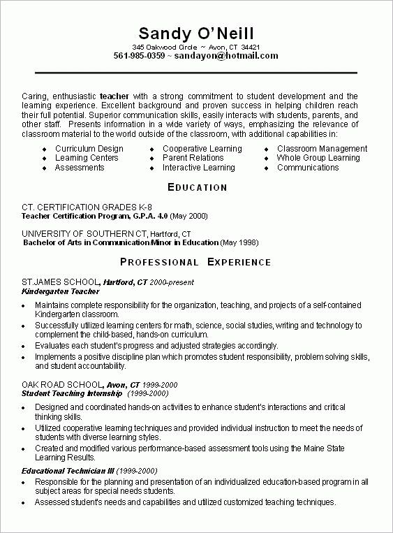 secondary teacher resume example teaching workshop and. new resume ...