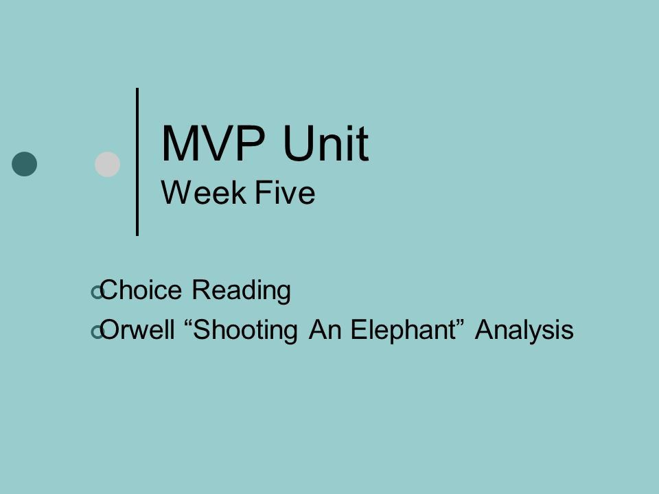 an analysis of orwells shooting an Shooting an elephant is an essay by george orwell, first published in the literary magazine new writing in late 1936 and broadcast by the bbc home service on 12 october 1948 the essay describes the experience of the english narrator, possibly orwell himself, called upon to shoot an aggressive elephant while working as a police.