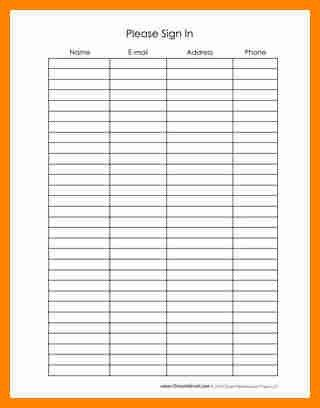 3+ sign up sheet template with time slots | job resumed