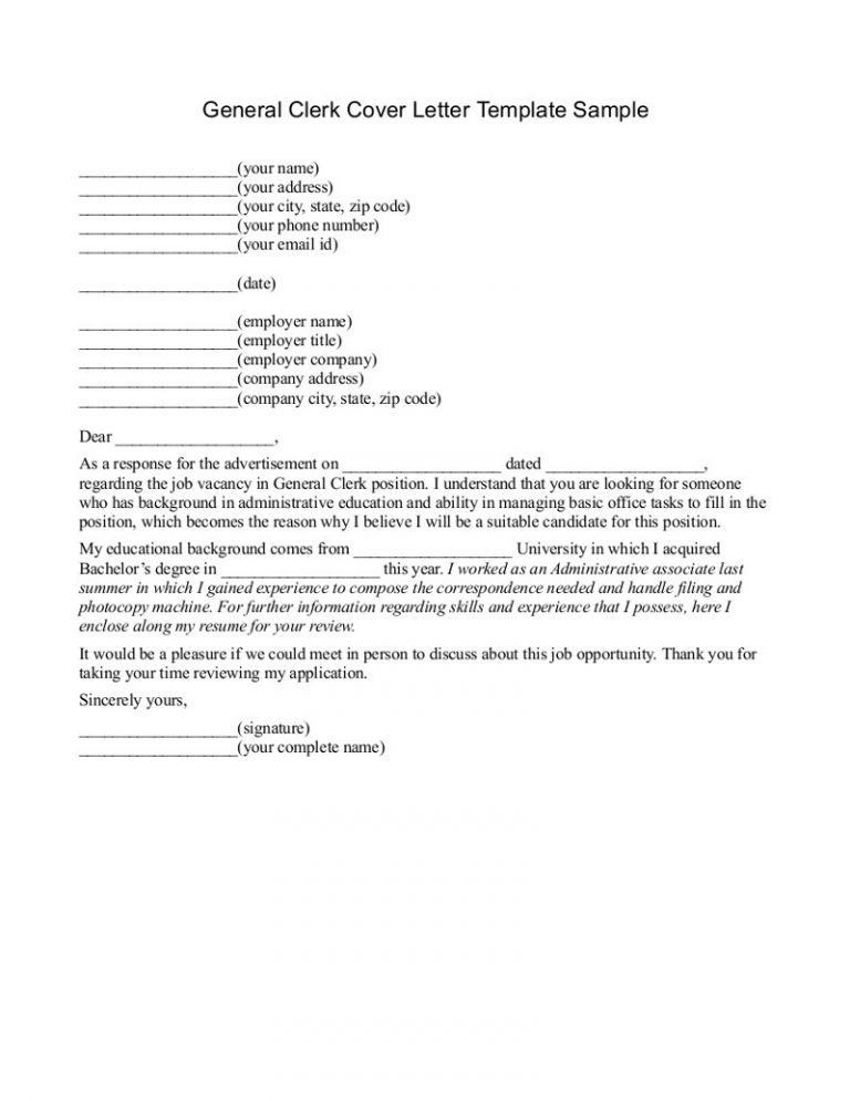 General Cover Letter Sample, cover letter resume. html job resume ...