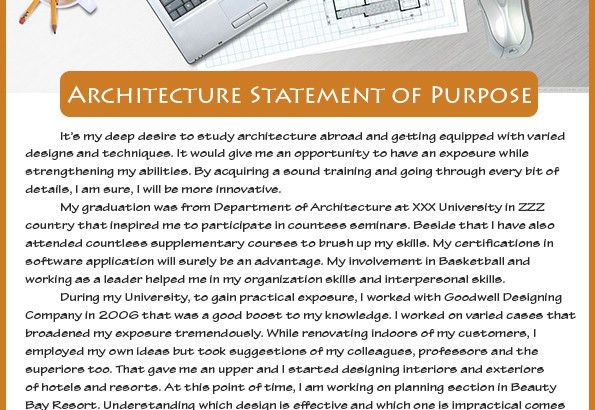 How to write a successful Architecture Statement of Purpose Sample ...