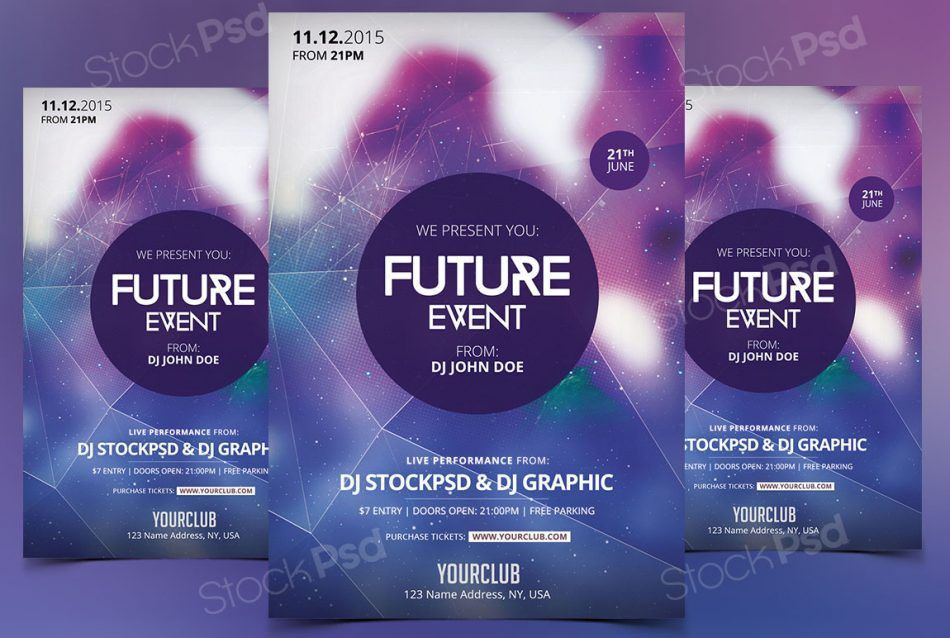 Free Download Future Event Flyer Template Photoshop - FlyerShitter.com