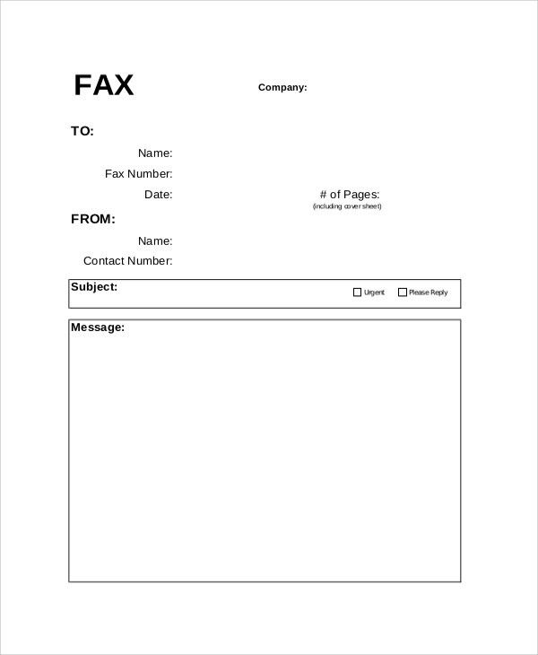 Fax Cover Letter. Free Cover Fax Sheet For Microsoft Office ...