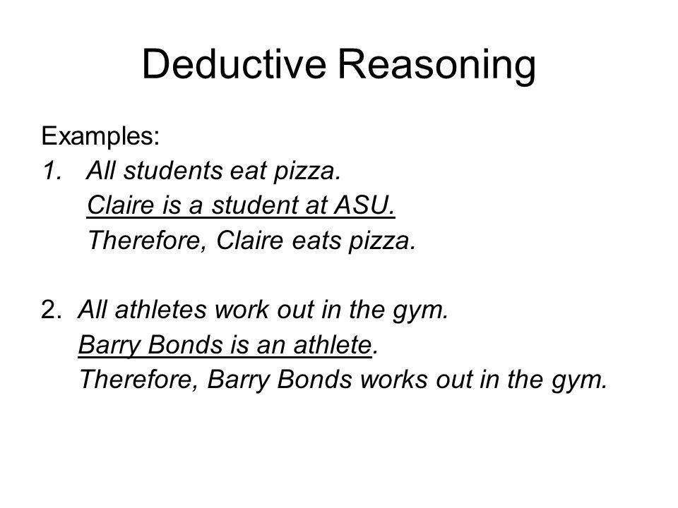 DEDUCTIVE vs. INDUCTIVE REASONING - ppt video online download