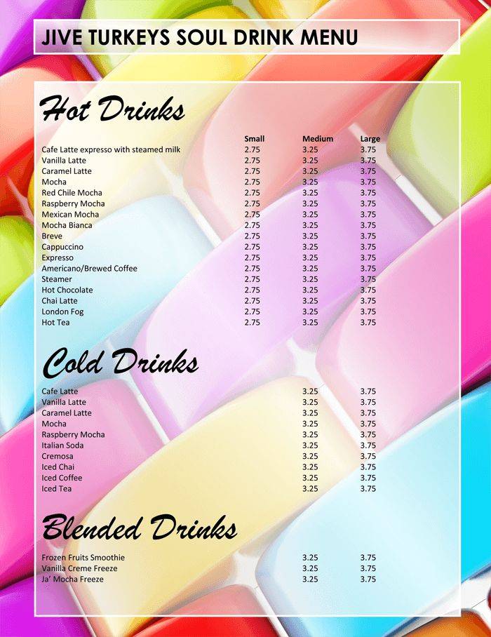 5 Plus Attractive Drink Menu Templates for Your Bar Business