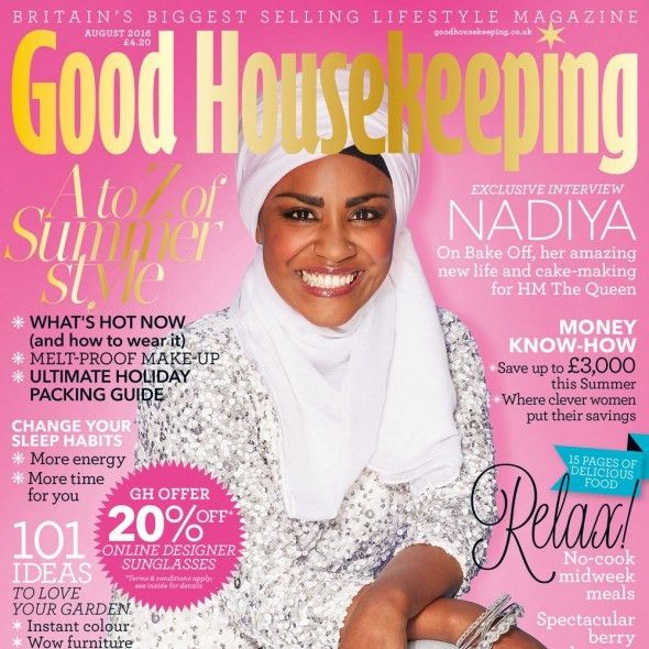 BREAKING: Nadiya Hussain is Good Housekeeping's August 2016 cover ...