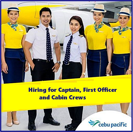 Cebu Pacific Job Hiring 2016: Captains, First Officers and Female ...