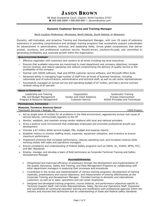 The Stylish Customer Service Manager Resume Examples | Resume ...