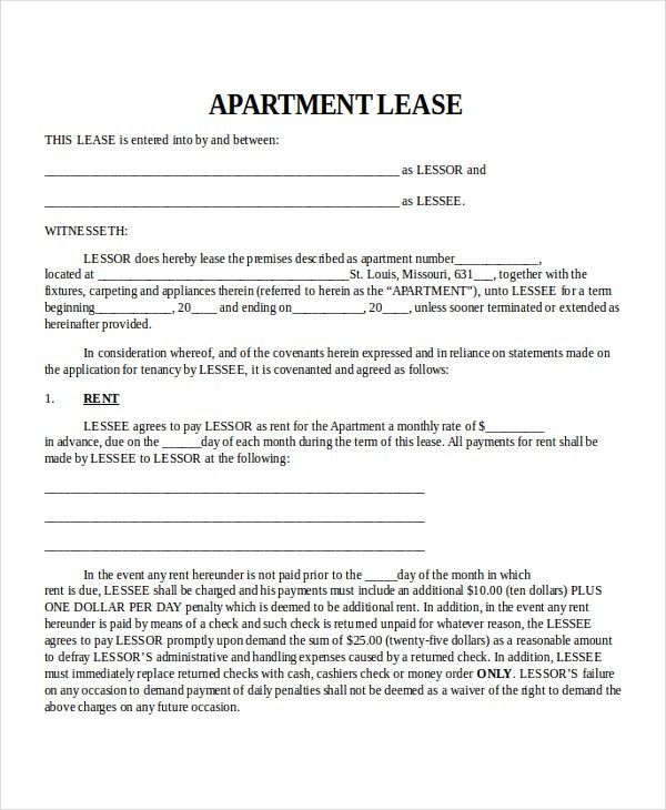 Property Lease Template - 4+ Free Word, PDF Document Downloads ...