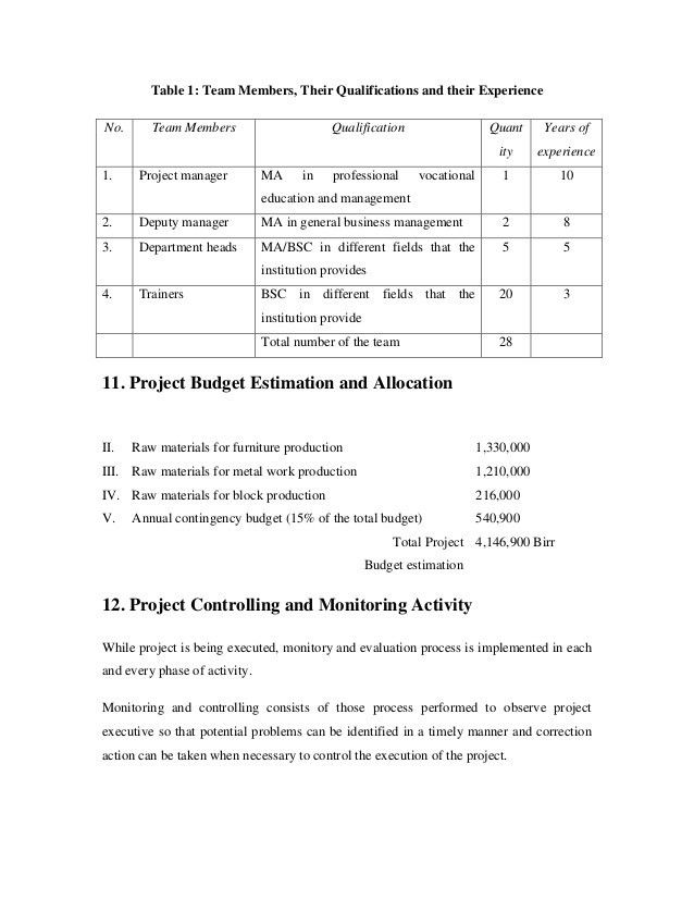 Project proposal on income gemerating 1