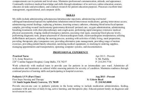 LVN Resume Objective Examples - Reentrycorps