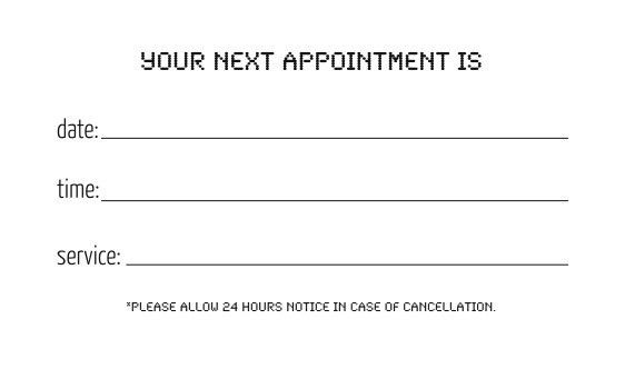 Custom Card Template » Appointment Reminder Cards Template - Free ...