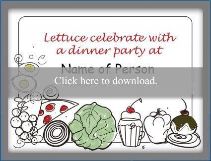 Dinner Party Invitation Wording