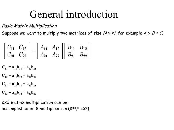 Matrix Multiplication(An example of concurrent programming)
