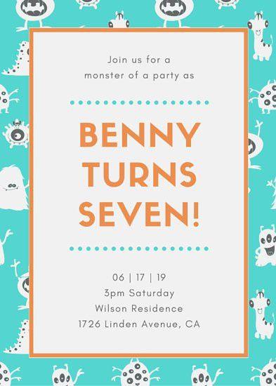 Kids Party Invitation Templates - Canva