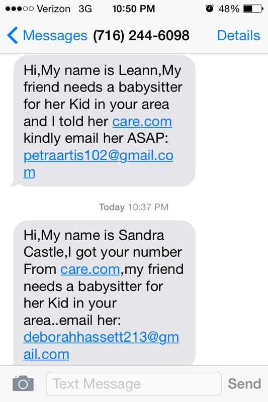 The Daily Scam   Update on Care.com Nanny Scams