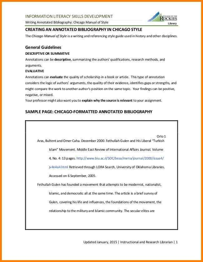 6+ annotated bibliography in chicago style | Annotated bibliography