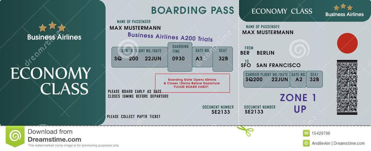 Boarding Pass Template Royalty Free Stock Image - Image: 15429796
